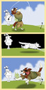 Cartoon: Lassie plays Golf... (small) by berk-olgun tagged lassie,plays,golf