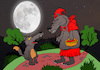 Cartoon: Little Red Riding Hood... (small) by berk-olgun tagged fullmoon