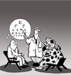 Cartoon: Mind Reader... (small) by berk-olgun tagged mind,reader