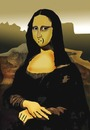 Cartoon: Mona Lisa 2000.. (small) by berk-olgun tagged mona,lisa