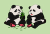 Cartoon: Panda in Love... (small) by berk-olgun tagged panda,in,love