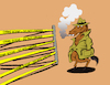 Cartoon: Police Line... (small) by berk-olgun tagged police,line