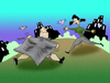 Cartoon: Romanticism with the Flasher.. (small) by berk-olgun tagged romanticism