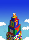 Cartoon: Rubik Cube... (small) by berk-olgun tagged rubik,cube