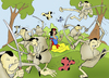 Cartoon: Snow White and the Seven Samurai (small) by berk-olgun tagged snow,white