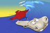 Cartoon: Surfing Hippopotamus... (small) by berk-olgun tagged surfing,hippopotamus