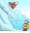 Cartoon: The Avalanche.. (small) by berk-olgun tagged the,avalanche