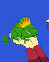 Cartoon: The Chameleon Prince... (small) by berk-olgun tagged the,chameleon,prince
