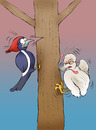 Cartoon: The Ugly Woodpeckerling... (small) by berk-olgun tagged the,ugly,woodpeckerling