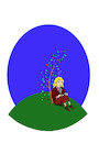Cartoon: Young Newton... (small) by berk-olgun tagged young,newton