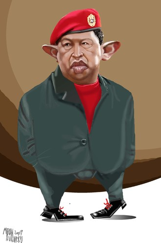 Cartoon: CHAVEZ (medium) by Marian Avramescu tagged mav