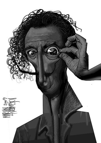 Cartoon: DALI (medium) by Marian Avramescu tagged mav