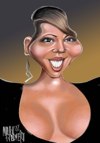 Cartoon: MARIAH CAREY (medium) by Marian Avramescu tagged mmm
