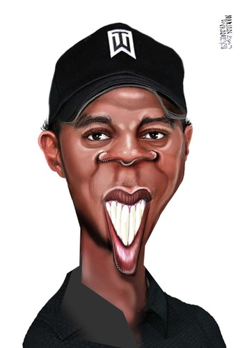 Cartoon: TIGER WOODS (medium) by Marian Avramescu tagged mav