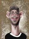 Cartoon: Martin Starr (small) by Marian Avramescu tagged mmmmmmmmmm
