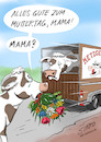 Cartoon: Muttertag auch für Nutztiere (small) by STERO tagged muttertag,vegan,vegetarier,kalb,kuh,metzger,mutterkuh