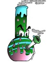 Cartoon: bongo (small) by m-crackaz tagged bong