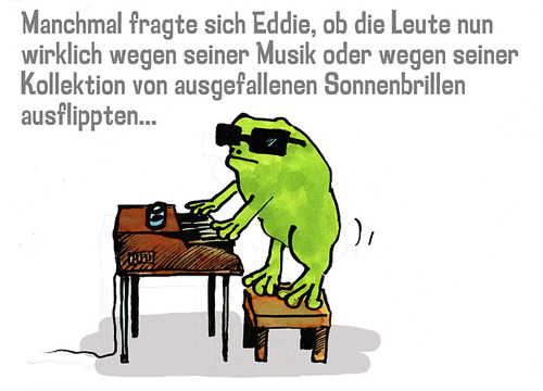 Cartoon: frog on stage (medium) by jenapaul tagged frog,piano,frosch,humor,satire,musik,music