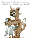 Cartoon: fuchs du hast die gans gestohlen (small) by jenapaul tagged fuchs,tiere,gans,fabel,humor,animals,fox
