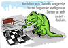 Cartoon: godzillas new page (small) by jenapaul tagged godzilla,monsters,movies,humor,satire,chess