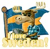Cartoon: I love sweden (small) by jenapaul tagged sweden,scandinavia,countries,moose