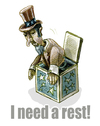 Cartoon: I need a rest (small) by jenapaul tagged usa,america,politics,uncle,sam,economy