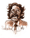 Cartoon: Salvador Dali - portrait (small) by jenapaul tagged dali,portrait,cartoon,drawing,painter,famous
