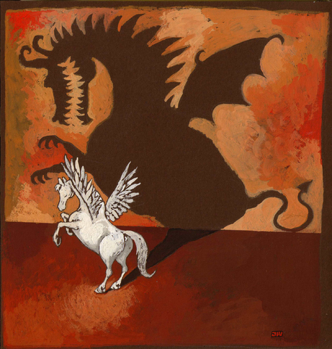 Cartoon: PEGASUS (medium) by Wiejacki tagged art,paintings,crisis,economy,cartoonist,pencil