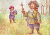 Cartoon: Hunters (small) by Wiejacki tagged cat hunting baroque eco historic