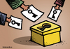 Cartoon: Vote is key to elections (small) by svitalsky tagged democracy,election,egypt,arab,spring,vote,voting,tunis,people,islam,money,army,fight,future,cartoon,svitalsky,svitalskybros,freedom,freiheit,demokratie,wahl,araber,illustration,color,key,schlussel