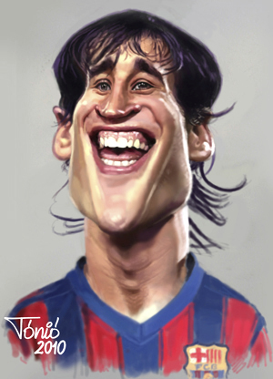 Cartoon: Bojan Krkics FC Barcelona (medium) by Tonio tagged football