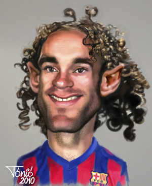 Cartoon: Gabi Milito FC Barcelona (medium) by Tonio tagged football