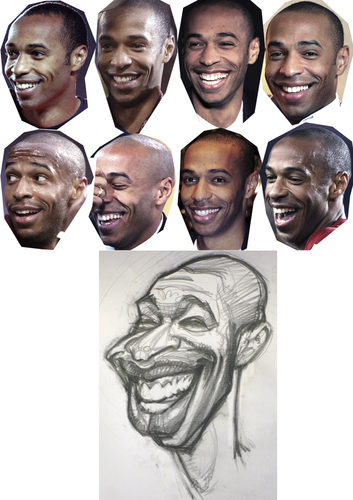 Cartoon: Thierry Henry FC Barcelona (medium) by Tonio tagged football