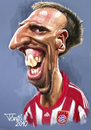 Cartoon: Frank Ribery FC Bayern (small) by Tonio tagged francia,franzözisch,soccer,football,nationalmanschaft,münchen,karikatur,fussball
