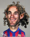 Cartoon: Gabi Milito FC Barcelona (small) by Tonio tagged football