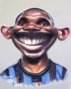 Cartoon: Samuel Etoo FC Internacionale (small) by Tonio tagged football