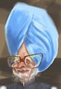 Cartoon: Manmohan Sighn (small) by zsoldos tagged india president