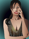 Cartoon: Angelina Jolie (small) by Vera Gafton tagged actress,angelina,awards,celebrity,famous