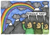 Cartoon: Regenbogen (small) by meikel neid tagged homophobie,nazi,schwul,gay
