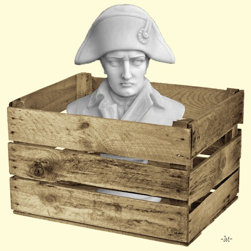 Cartoon: Fragile (medium) by zu tagged napoleon,chest,fragile