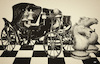 Cartoon: Landau (small) by zu tagged landau,chariot,chess,horses