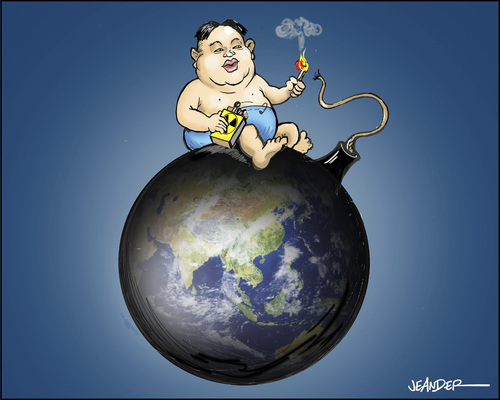 Cartoon: Kim Jong un (medium) by jeander tagged north,korea,kim,jong,un,north,korea,kim,jong,un