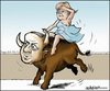 Cartoon: Europe and the bull (small) by jeander tagged eu,europe,merkel,erdogan,bull,turkey