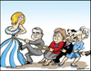Cartoon: Greece squeese 2 (small) by jeander tagged greece loan debt papademos merkel sarkosy imf lagarde ecb