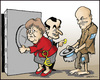 Cartoon: More money (small) by jeander tagged euro,greece,papandreou,sarkosy,merkel,crises,eu,money
