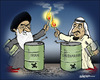 Cartoon: Playing with fire (small) by jeander tagged iran,saudiarabia,conlict,khamenei