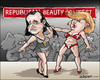 Cartoon: Republican beauty contest (small) by jeander tagged trump,cruz,election,republican,party,gop,usa,contest