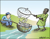 Cartoon: Resources (small) by jeander tagged resources,fishing,rich,poor,food,starvatin