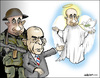 Cartoon: Russian propaganda! (small) by jeander tagged putin,lagrov,russia,war,peace
