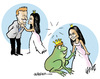 Cartoon: Surprise (small) by jeander tagged tags,royal,wedding,kate,william,marriage,charlesqueen,buckingham,palace,windsor,mountbatten,technique,other